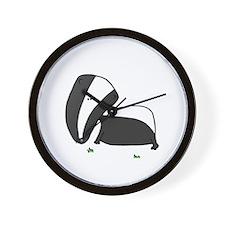 Badger! Wall Clock