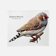 Zebra Finch Throw Blanket