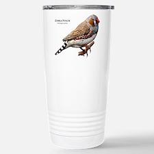 Zebra Finch Stainless Steel Travel Mug