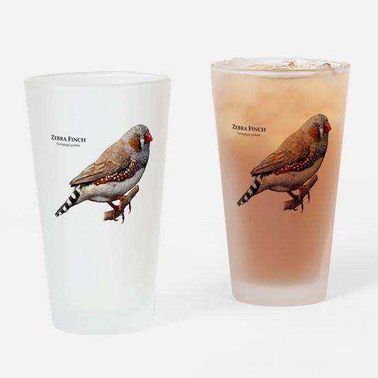 Zebra Finch Drinking Glass