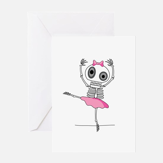 cute-skeleton-ballerina Greeting Cards