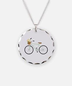 Bicycle Flower Basket Necklace