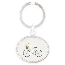 Bicycle Flower Basket Keychains