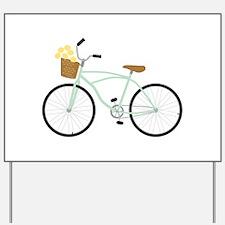 Bicycle Flower Basket Yard Sign