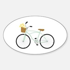 Bicycle Flower Basket Decal