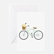 Bicycle Flower Basket Greeting Cards