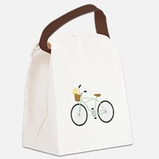 Bicycle Flower Basket Canvas Lunch Bag