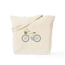 Bicycle Flower Basket Tote Bag