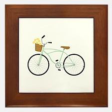 Bicycle Flower Basket Framed Tile