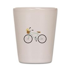 Bicycle Flower Basket Shot Glass