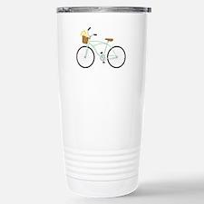Bicycle Flower Basket Travel Mug