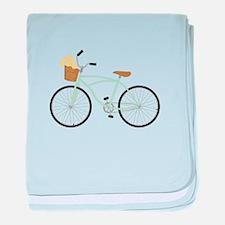 Bicycle Flower Basket baby blanket