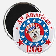 Patriotic Westie Magnet