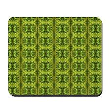 Vivid Green Tapestry Mousepad
