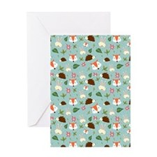 Forest Animals Pattern Greeting Cards