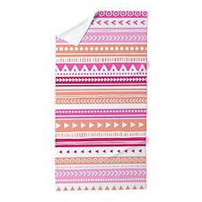Peach Pink Tribal Geometric Vintage S Beach Towel