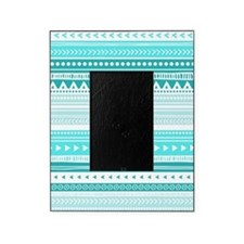 Teal Blue Tribal Geometric Vintage S Picture Frame