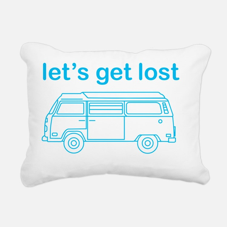 Let's get lost Rectangular Canvas Pillow