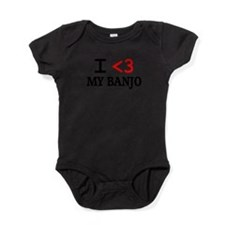 Cute Banjo player Baby Bodysuit