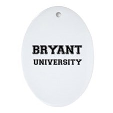 BRYANT UNIVERSITY Oval Ornament