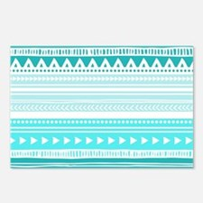 Teal Blue Tribal Geometri Postcards (Package of 8)