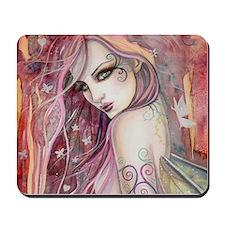 The Shy Flirt Fairy Art Mousepad