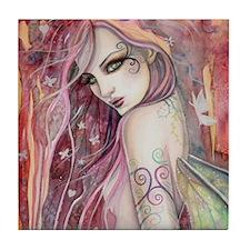The Shy Flirt Fairy Art Tile Coaster