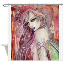 The Shy Flirt Fairy Art Shower Curtain