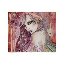 The Shy Flirt Fairy Art Throw Blanket