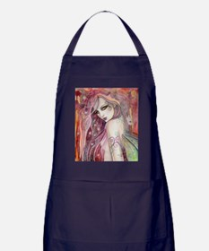 The Shy Flirt Fairy Art Apron (dark)