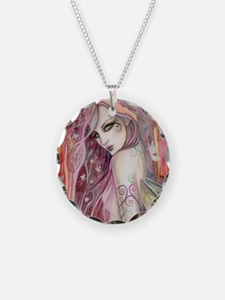 The Shy Flirt Fairy Art Necklace