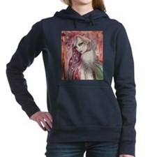 The Shy Flirt Fairy Art Women's Hooded Sweatshirt
