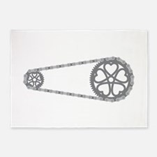 Bicycle Gears 5'x7'Area Rug