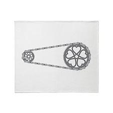 Bicycle Gears Throw Blanket