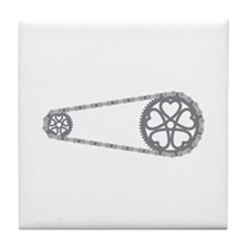Bicycle Gears Tile Coaster
