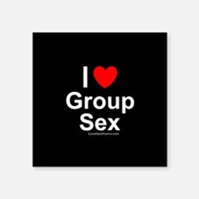 "Group Sex Square Sticker 3"" x 3"""