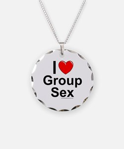 Group Sex Necklace Circle Charm