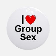 Group Sex Ornament (Round)