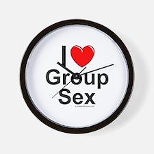 Group Sex Wall Clock