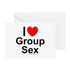 Group Sex Greeting Card