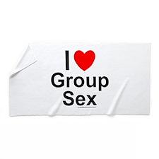 Group Sex Beach Towel