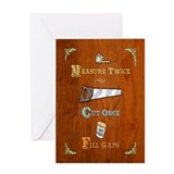 Wood shop Greeting Cards