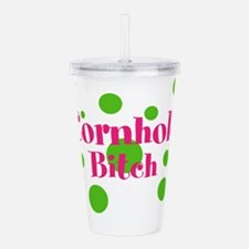 Cornhole Bitch Acrylic Double-wall Tumbler
