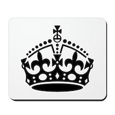 Keep Calm Crown Mousepad