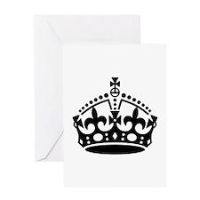 Keep Calm Crown Greeting Card