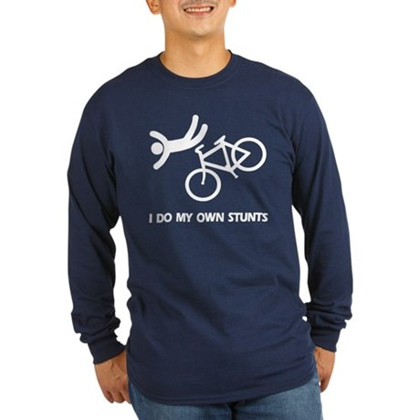 Bike, bike, funny biker stunt Long Sleeve Dark T-S
