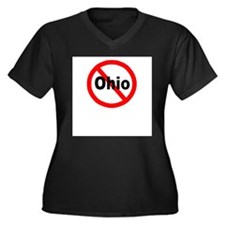 ohio.jpg Women's Plus Size V-Neck Dark T-Shirt