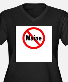 3-maine.jpg Women's Plus Size V-Neck Dark T-Shirt
