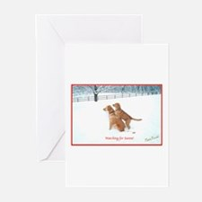 Funny Golden retriever holiday Greeting Cards (Pk of 20)