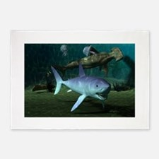 Shark Week 5'x7'Area Rug